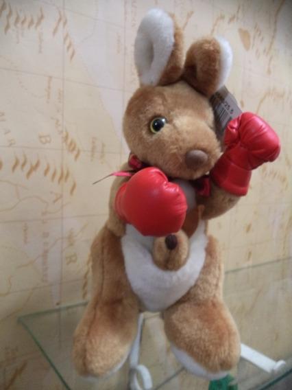 Boneco Mascote De Pelucia Australia-canguru Boxe Lindo Antig