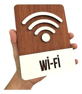 Placa Decorativa Parede Wifi Para Comércio E Restaurantes