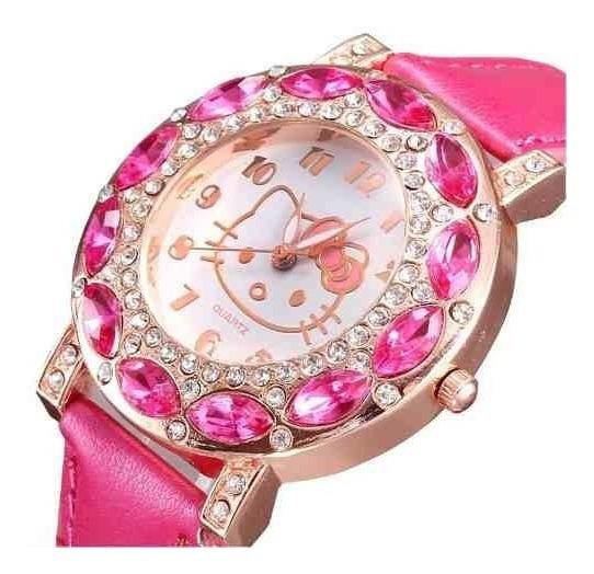 Relógio Feminino Pulso Hello Kitty Infantil Adulto Rosa Pink