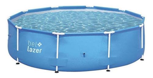 Piscina estrutural redonda Bel 510000 com capacidade de 5000 litros de 3.05m de diâmetro azul