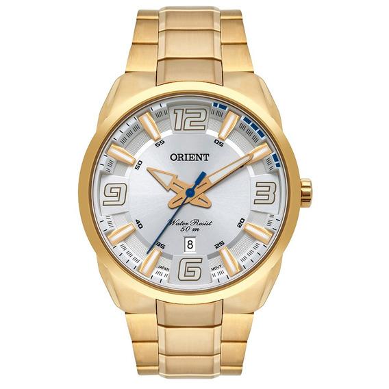 Relógio Orient Masculino Dourado Mgss1178 S2kx