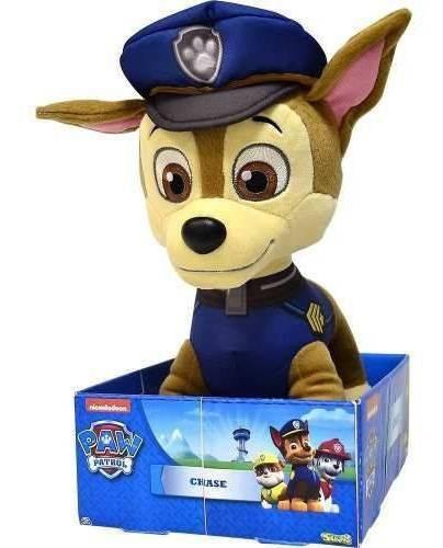 Pelúcia Chase Patrulha Canina 30cm Grande Sunny Brinquedos