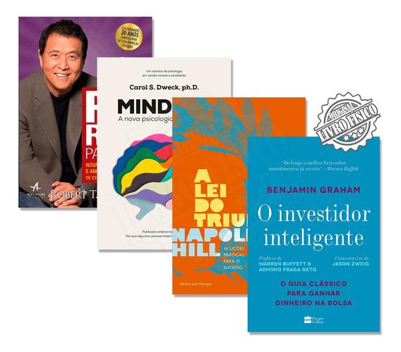 Kit O Investidor Inteligente + Pai Rico Pai Pobre + Mindset