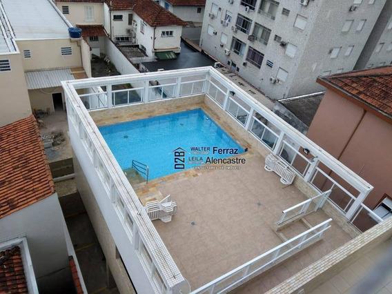 Apartamento Com 2 Dormitórios Para Alugar, 59 M² Por R$ 3.000/mês - Gonzaga - Santos/sp - Ap0315