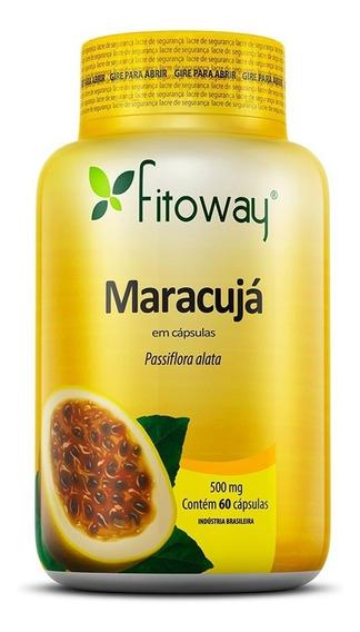 Maracujá Passiflora E Maracugina 500mg Fitoway - 60 Cápsulas