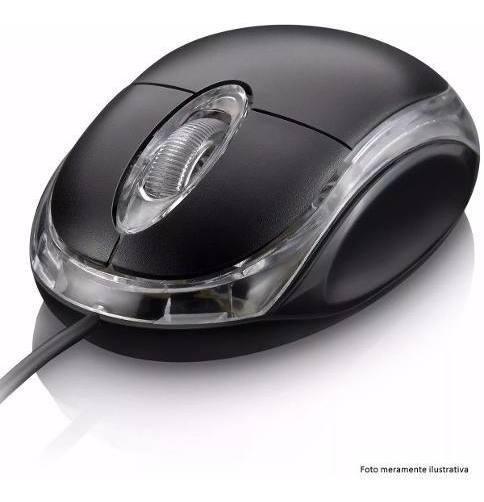 Mouse Para Computador Óptico Usb Windows Fy Led Pc Preto