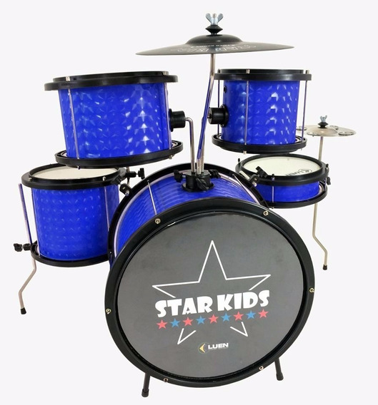 Bateria Infantil Star Kids Luen Completa Azul