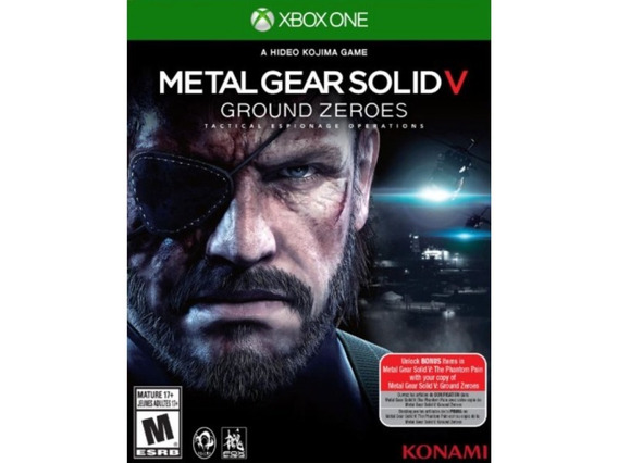 Metal Gear Solid V 5 Ground Zeroes Xbox One Midia Digital