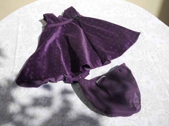 Vestido Minimimo Color Violeta Talle Xl