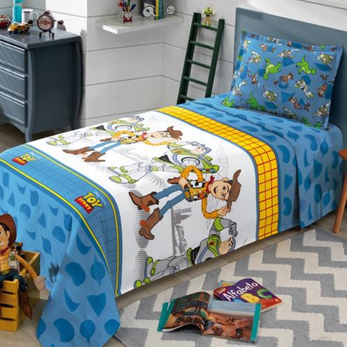 Colcha Solteiro Piquet Toy Story C/ Porta Travesseiro Dohler