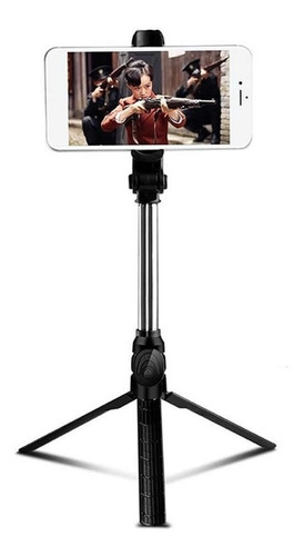 Imagen 1 de 4 de Palo Monopod Tripode Baston Selfie Bluetooth Celular Foto