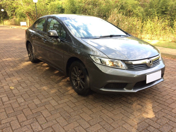 Honda Civic Sedan Lxs 1.8 Cinza 2012