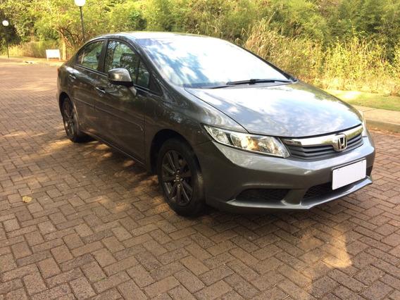Honda Civic Sedan Lxs 1.8 Cinza 2012