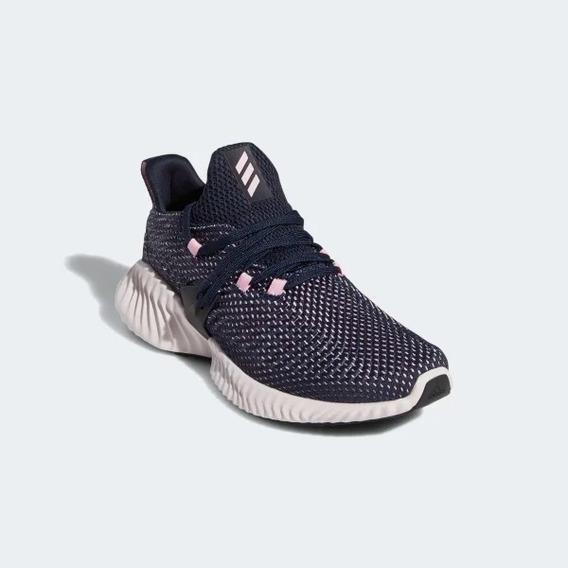 Tênis adidas Feminino Alphabounce Instinct Azul/rosa