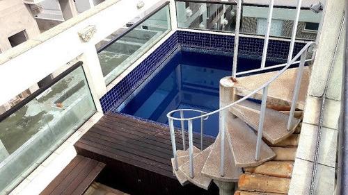 Imagem 1 de 30 de Cobertura Com 3 Dormitórios À Venda, 200 M² Por R$ 640.000,00 - Balneário Cidade Atlântica - Guarujá/sp - Co0257