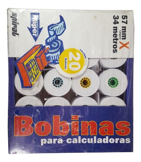 Bobinas Para Calculadora Spiral 20 Unidade 57mmx34m