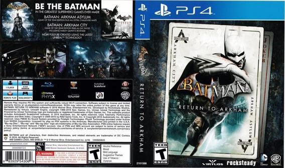 Batman Return Akrham Original 1ª Digital Psn