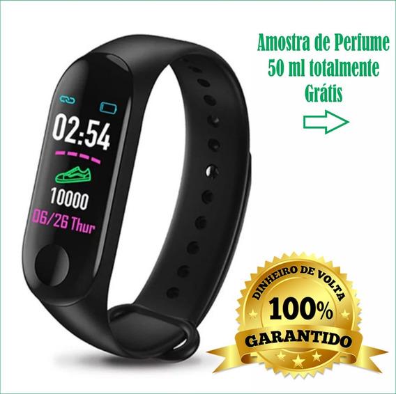 Relógio Inteligente Monitor Cardíaco + Brinde Grátis