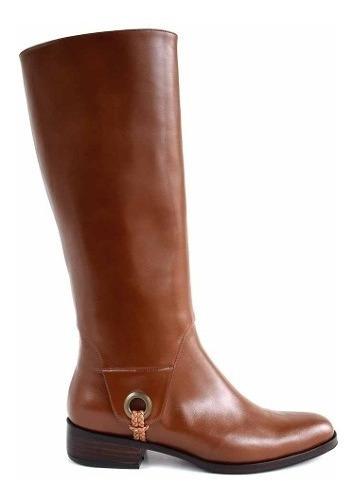Bota Cuero Mujer Caña Alta Briganti Zapato Taco Mcbo24824
