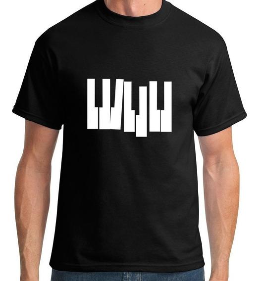 Camiseta Teclas Piano Masculino
