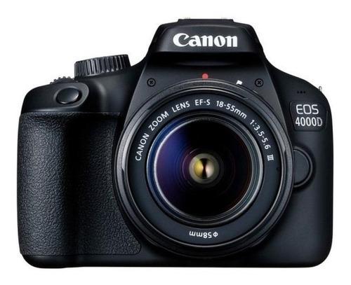 Imagen 1 de 2 de Canon EOS 4000D 18-55mm III Kit DSLR color  negro
