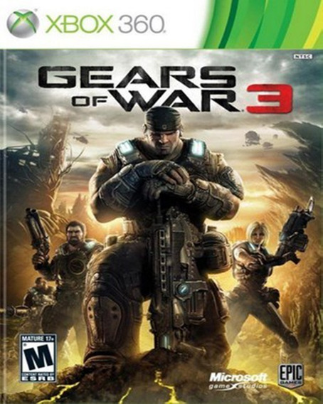 Gears Of War 3 Mídia Digital Xbox 360