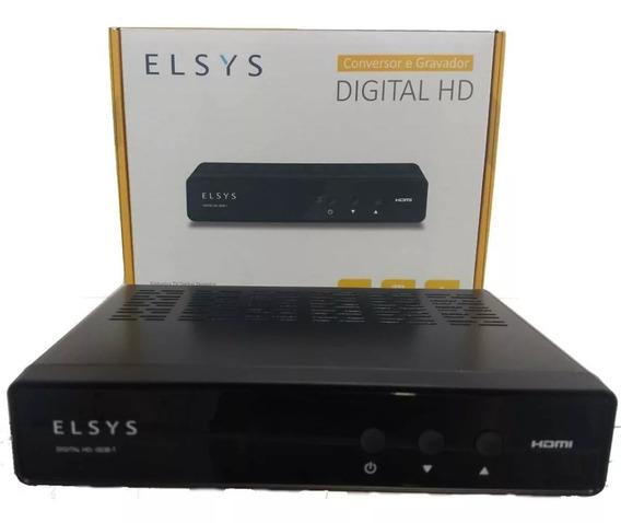 Conversor Sinal Digital Tv De Tubo Antiga Elsys Nacional Hd