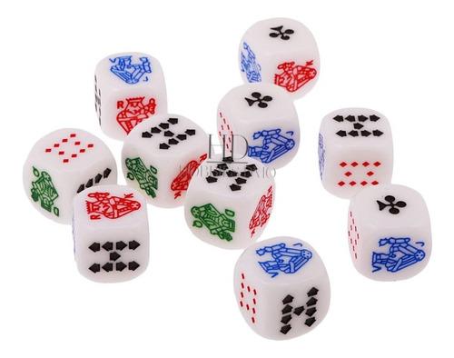 Dados De Poker Conjunto Por 5 Dados Die Poker Juego De Asar