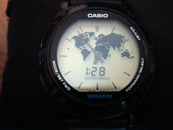 Clásico Reloj Casio Abx-20 Twincept. Vintage Ii.