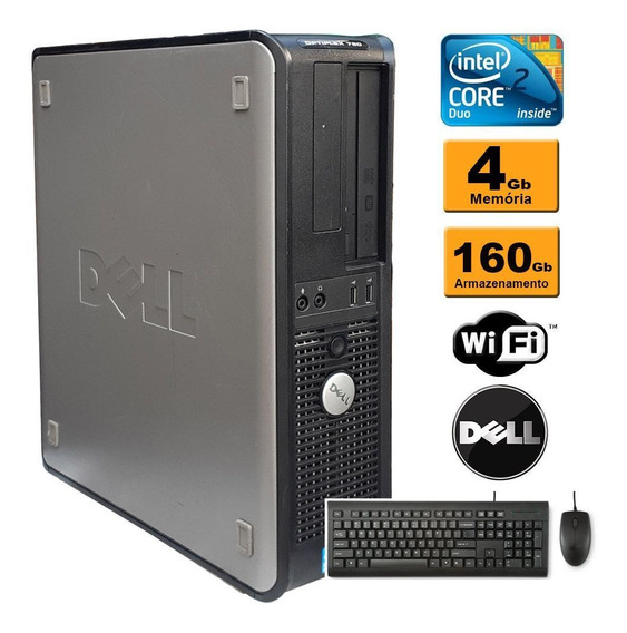 Pc Cpu Dell Optiplex 780 Core 2 Duo E8400 4gb Ddr3 Hd 160gb