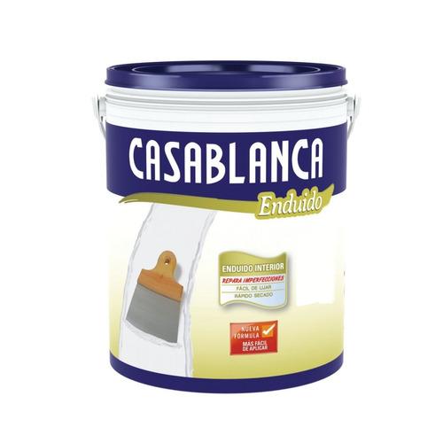 Enduido Interior Casablanca 4lt Facil Lijar Pintumm
