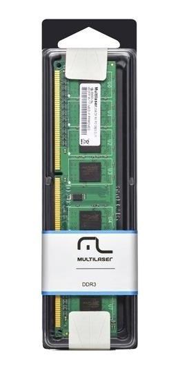Memoria Ddr3 8gb 1600mhz/12800 Multilaser 1.5v Cl11 Mm810