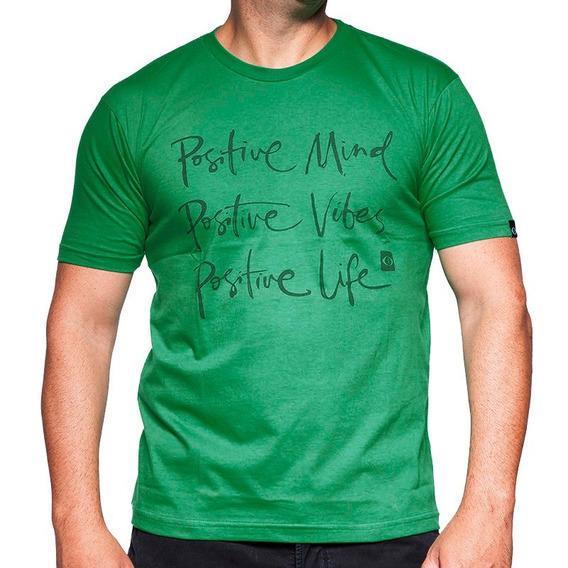 Camiseta De Algodão Positive Verde