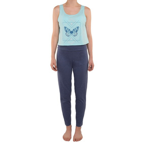 Pijama Tops Bottoms Dama Juvenil Pantalon De Yoga