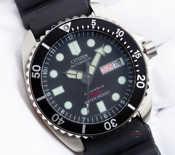 Relógio Citizen Automático Diver Preto Ny2300-09e
