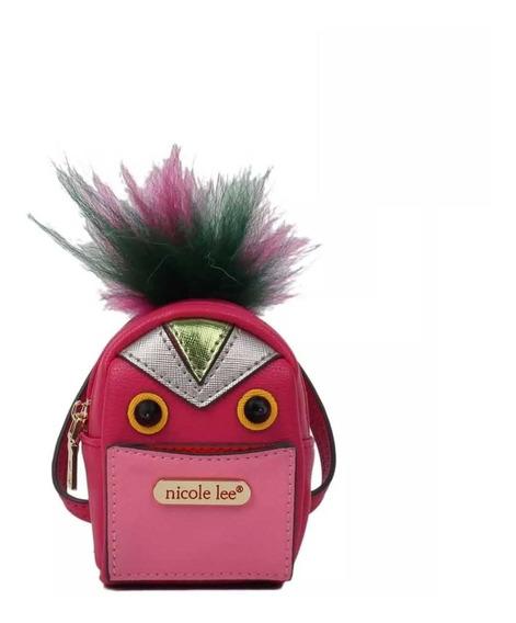 Nicole Lee Monedero Llavero Fushy Fur Mini Backpack Charm P
