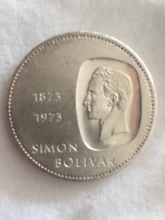 Moneda De Plata Doblón De 10 Bs, 30 G. 1873/1973