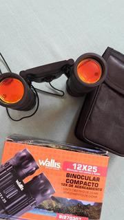 Binoculares Compacto 12x De Acercamiento Marca Wallis
