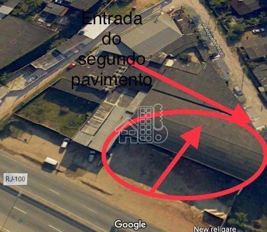 Galpão Para Alugar, 2000 M² Por R$ 13.000,00/mês - Santa Bárbara - Niterói/rj - Ga0018