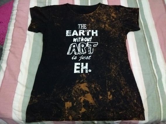 Remera Remeron Largo Marron Batik Earth Of Art Rock