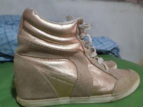 Tênis Sneaker Coca-cola Dourado 39
