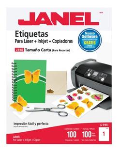 Etiquetas Adheribles Tamaño Carta 100 Pz Janel Para Full