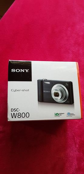 Máquina Fotográfica Sony W800 Envio Imediato Cor Preta