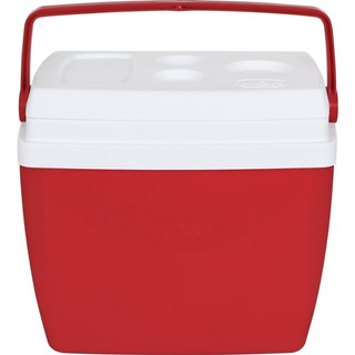 Caixa Térmica 26 Litros Vermelha Com Alça
