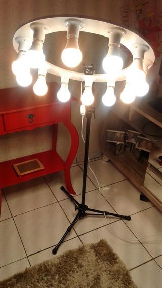 Ring Lighit Preto Reclinável 12 Lampada 7w Bivolt +brinde