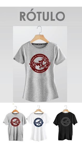 Camiseta T-shirt Feminina Casual Mtb Speed Rotulo Kom-co