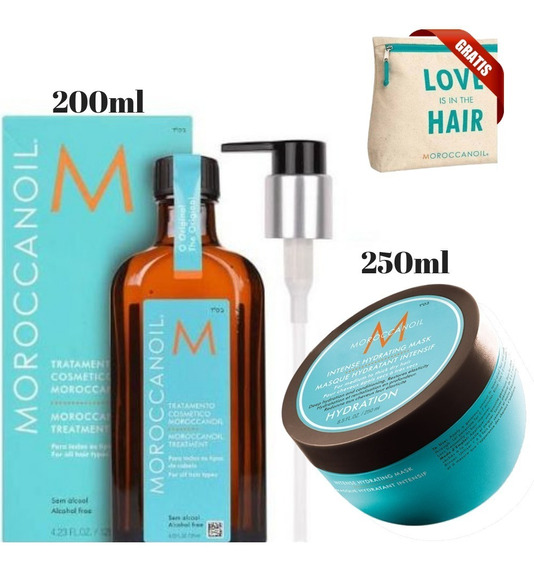 Kit Mascara Moroccanoil 250ml Óleo De Argan 200ml Promoção