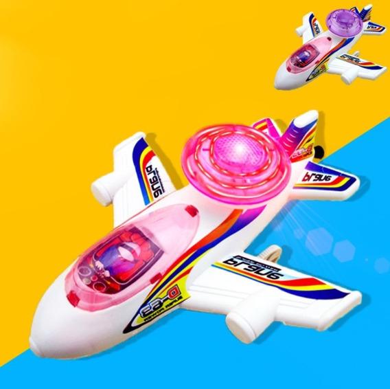 Brinquedo Avião À Corda Com Luz