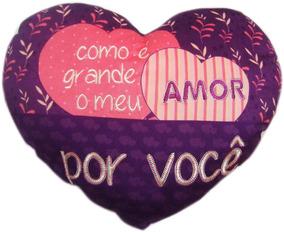 Coração De Pelucia Grande Roxo Para Namorados