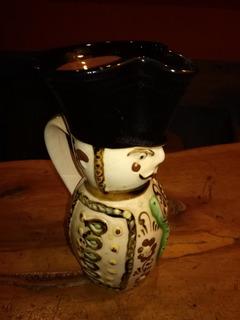 Jarra Ceramica Pintada A Mano Antigua Hungara Buen Estado